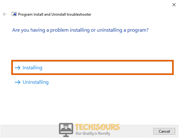 "Click on ""Installation"""