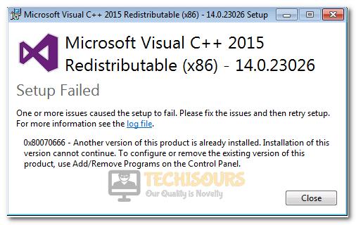 Error Code 0x80070666