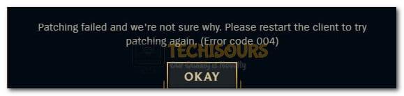 League of Legends Error 004