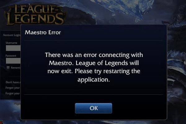 league of legends maestro error