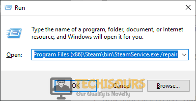 Repair Steam's directory to fix steam takes forever to open problem
