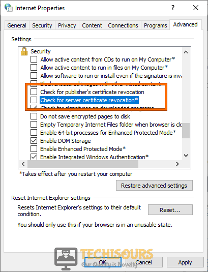 Tweak Internet Explorer settings
