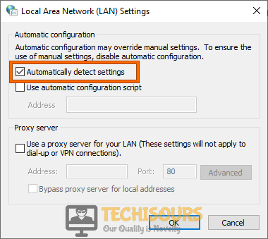 Automatically Detect Settings