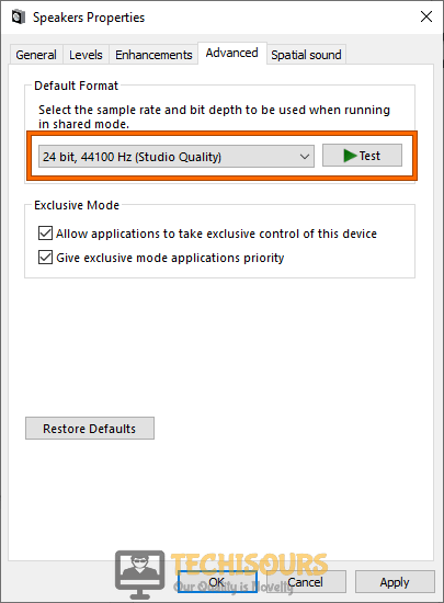 Modify Default format to resolve how to stop microphone auto adjusting windows 10