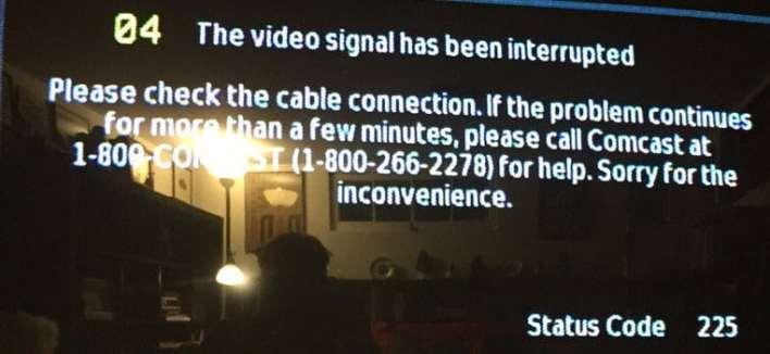 comcast status code 225