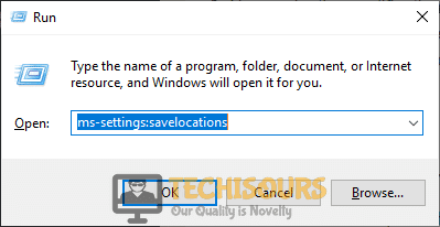 "Tying in ""ms-settings:savelocations"" to fix not enough quota is available to process this command issue"