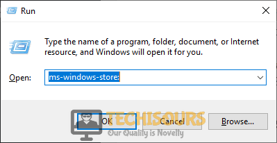 """Typing in """"ms-windows-store:"""" to fix microsoft store something happened on our end issue"""