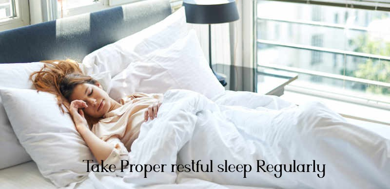 Take Proper restful sleep Regularly to reduce belly fat naturally
