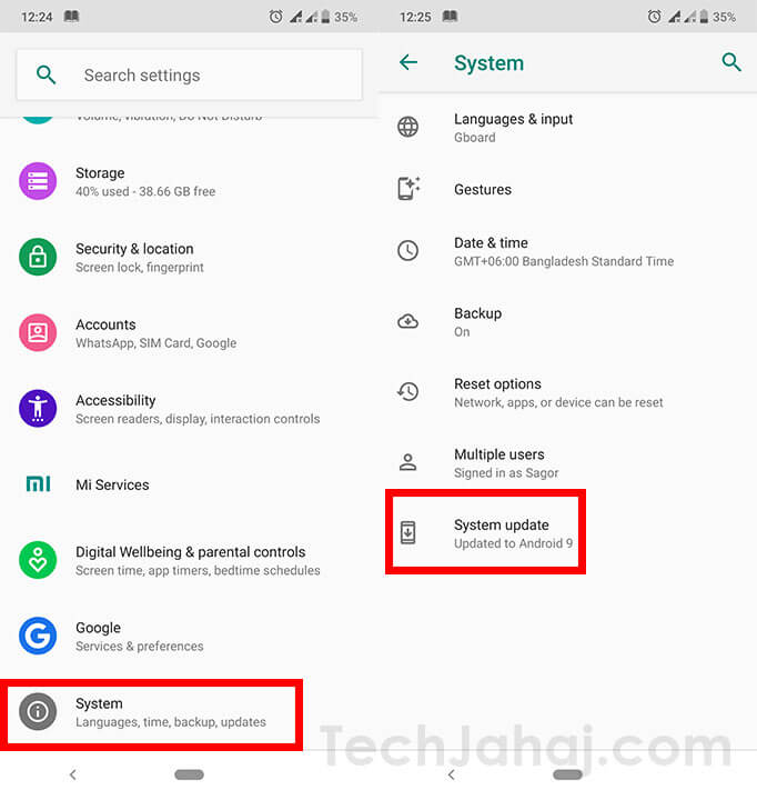 update android os