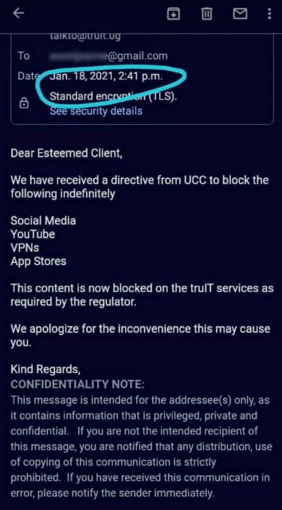 Social Media, VPN, YouTube banned in Uganda