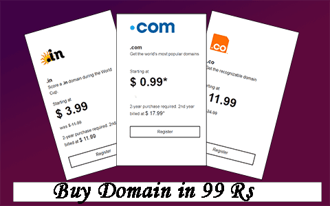 Buy a Domain in Cheap Price by the Help of Godaddy 99 Promo Code 1