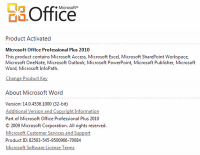 Office 2010 product activation