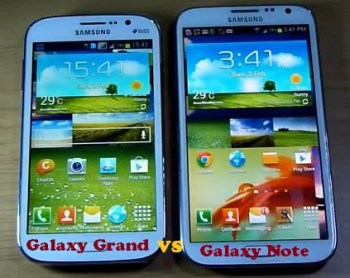 Comparison of Samsung Grand vs Note