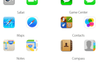 Comparison between Icons of iOS6 vs iOS7