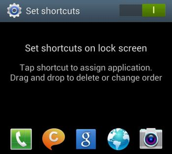 How to create shortcuts to lock screen in Galaxy S4 and S3