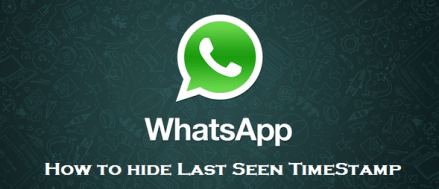 How to hide or disable last seen timestamp in whatsapp