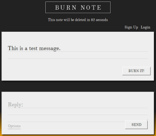 how to send message with self destruct - Burn note