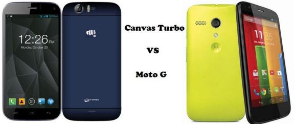 Moto G vs Micromax Canvas Turbo A250