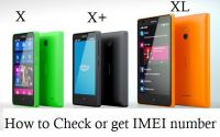 how to check imei number of nokia x x+ and xl