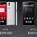 Oneplus one smartphone pricing and specifications