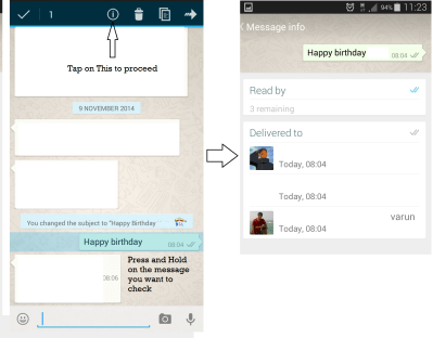 How to check if someone read your message in whatsapp group