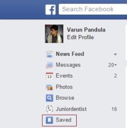 How to view saved videos in facebook