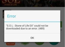 How to fix or solve error 489 while installing app from google play store