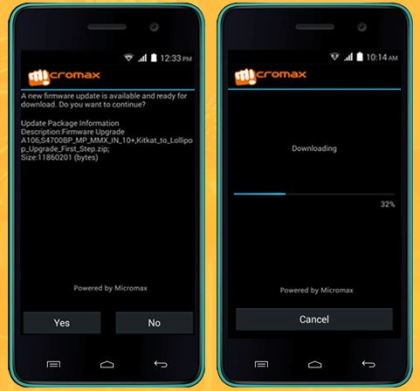 How to update micromax unite 2 a106 to android lollipop 5.0 without rooting
