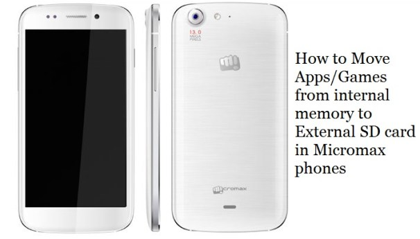 How to transfer apps and games to external sd card in micromax phones