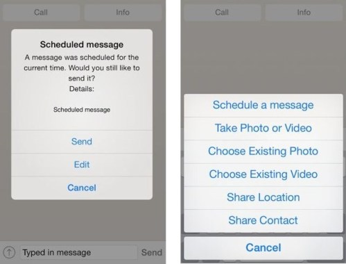How to Schedule WhatsApp messages in iPhone