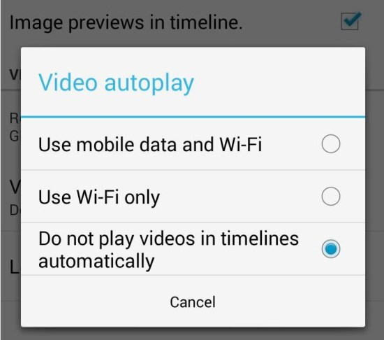 How to Stop Auto Play Video in Twitter App for Android
