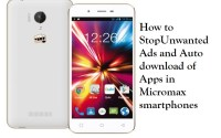 How to stop ads and auto download of apps in micromax smartphones