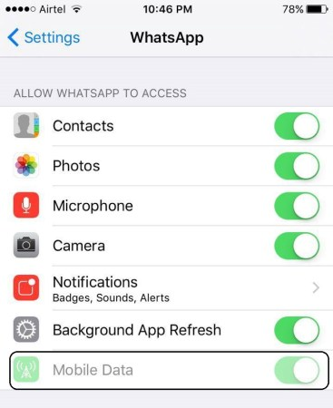 How to temporarily deactivate WhatsApp on iPhone