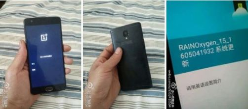 OnePlsu 3 leaked back panel and front