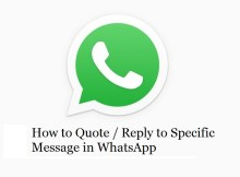 How to quote or reply to a specific message in WhatsApp