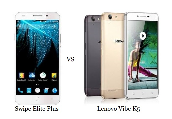 Swipe Elite Plus vs Lenovo Vibe K5 Comparison
