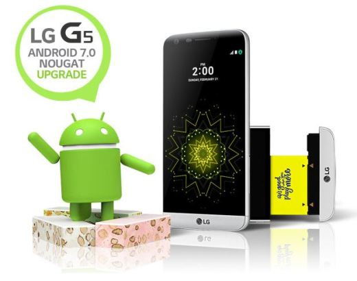 android 7.0 nougat update for LG G5