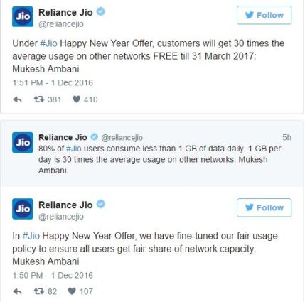reliance jio happy new year data speed and fup limit