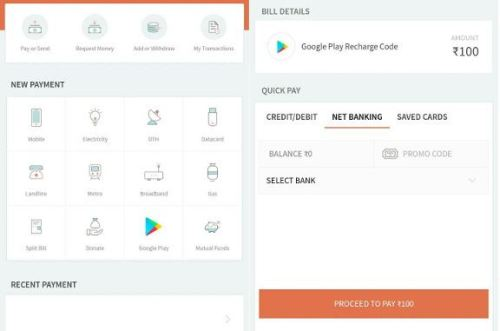 How to buy Google Play Recharge Codes using Freecharge