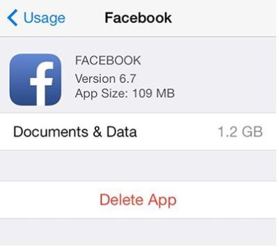 how to delete documents and data files in iphone and ipad