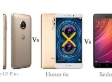 Moto G5 Plus vs Honor 6X vs Redmi Note 4 Comparison and Differences