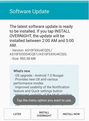 Samsung Galaxy A5 (2016) and A7 (2016) get Android 7 Nougat