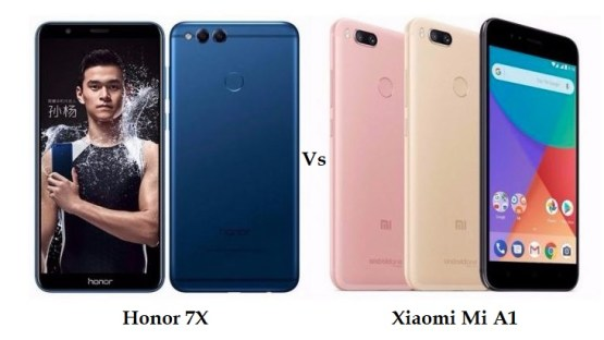 Honor 7x vs Xiaomi Mi A1 comparison and differences