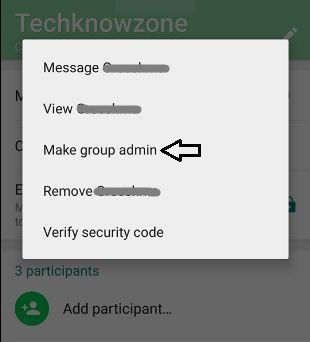 How to Add or remove Group Admins in Whatsapp Group