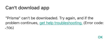How to Fix or Solve Error 506 in Google Play Store