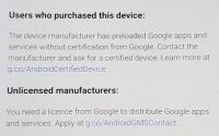 How to fix device is not certified by Google Error