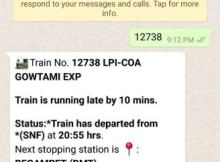 how to check live train pnr status in WhatsApp using makemytrip