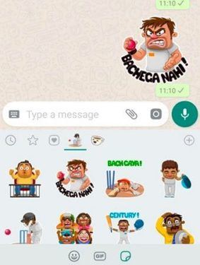 How to use Cricket Stickers in WhatsApp