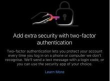 Activate two factor authentication for Instagram