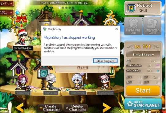 Is it Possible to Fix Maplestory Crashing After Login